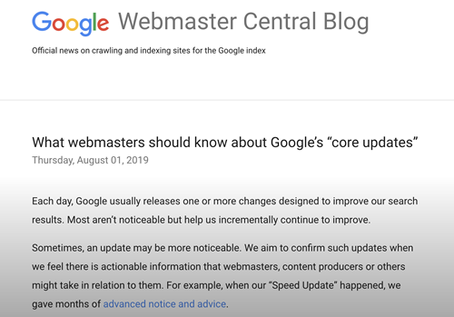 Googleが発表したサイト評価リストを使い順位回復する